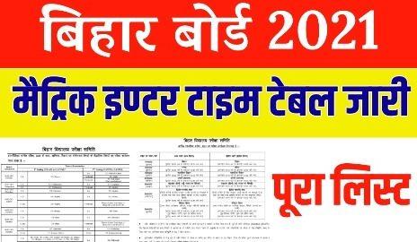 Bihar board exam 2021,