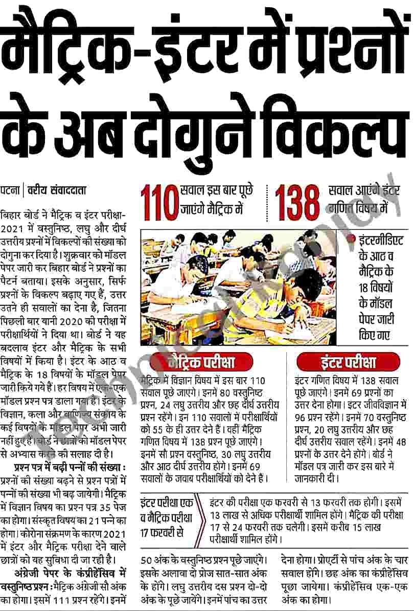 Bihar Board Syllabus 2022